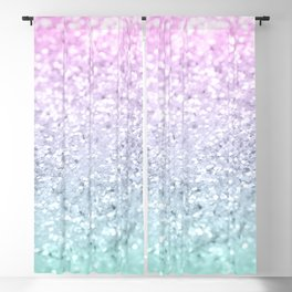 Mermaid Girls Glitter #1 (2019 Pastel Version) #shiny #decor #art #society6 Blackout Curtain
