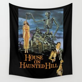 House On Haunted Hill, 1959 Campy Horror Movie Wall Tapestry