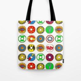 Superhero Donuts Tote Bag