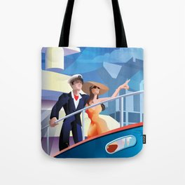 COUPLE ON YACHT Tote Bag