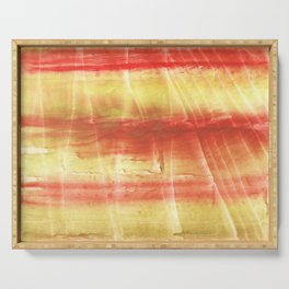Red yellow Serving Tray