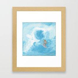 Rock Steady & Flying Framed Art Print