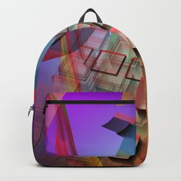 Modern geometric abstract with 3-d effects Backpack