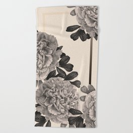 Flowers on a winter day Beach Towel