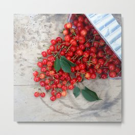 Who Spilled the Cherries! Metal Print