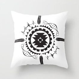 Native Amrican STEM Mandala Southwestern Throw Pillow