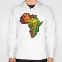 africa Hoodies featuring Africa by RicoMambo