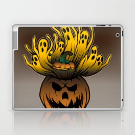 Classic character of ghost and pumpkin Laptop & iPad Skin
