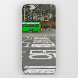 Green Korean Bus iPhone Skin