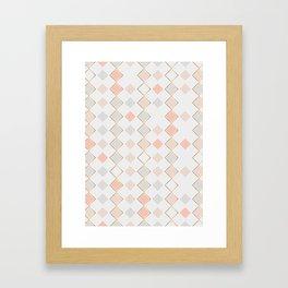 Pattern Rose Framed Art Print