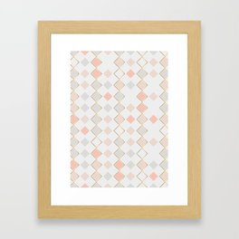 Pattern Rose Framed Art Print