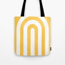 yellow and white retro u stripes Tote Bag