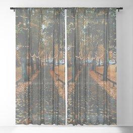 Autumn Path Sheer Curtain