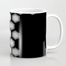 Hexagonal Shades of Grey Coffee Mug