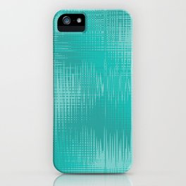 Teal Green Wave Design iPhone Case