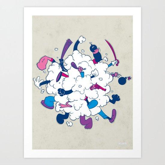 Fistycuffs Art Print