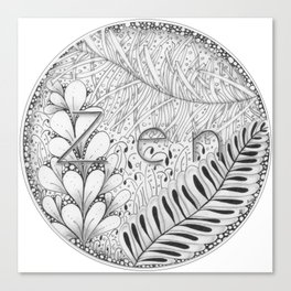 Zentangle®-Inspired Art - Tangled Zen Canvas Print