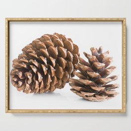 Two pine cones Serving Tray