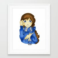 ravenclaw Framed Art Prints featuring Ravenclaw by Maiii