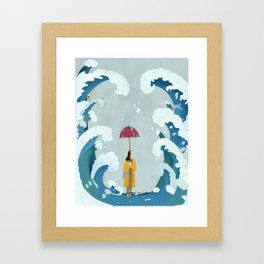 Rain & Waves Framed Art Print