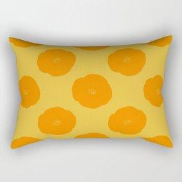 Citrus Color Botanical Pattern Rectangular Pillow