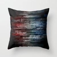 religious Throw Pillows featuring Religious Liberty by politics