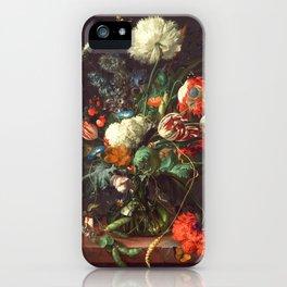 Vase of Flowers II - de Heem iPhone Case