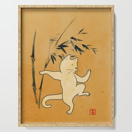 Tai Chi Cat 03 Serving Tray