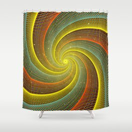 Portal with a Golden Hue Shower Curtain