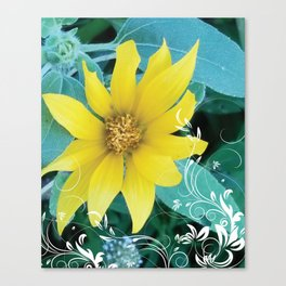 Shine like a Sunflower Canvas Print