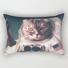 Beautiful cat astronaut Rectangular Pillow