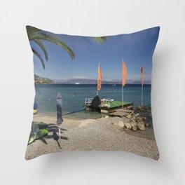 Ipsos beach Throw Pillow