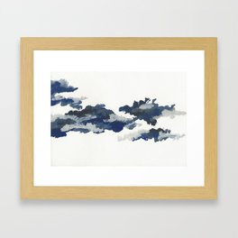 clouds_april Framed Art Print
