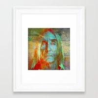 iggy Framed Art Prints featuring Iggy by Ganech joe