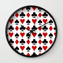 Suits Cards Wall Clock