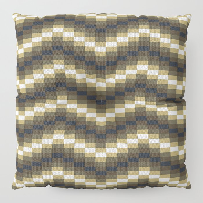 Block Wave Illustration Artwork Floor Pillow