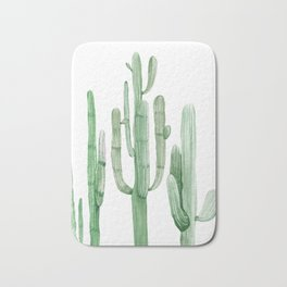 Three Amigos White + Green by Nature Magick Bath Mat