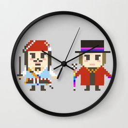 Digital Jack Sparrow and Willy Wonka Wall Clock