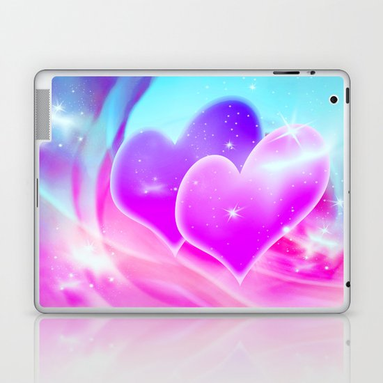 Two Hearts Laptop & iPad Skin