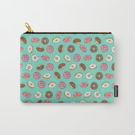ALL the donuts! Rainbow on Aqua Carry-All Pouch