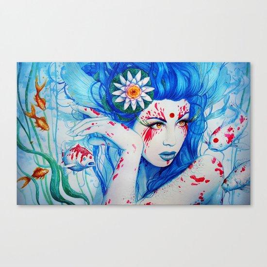 """Goddess of the Koi"" Canvas Print"