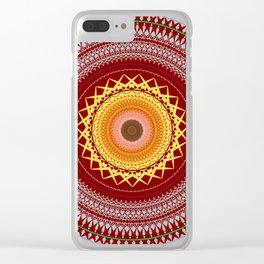 Mandala of January Clear iPhone Case
