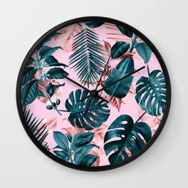 Tropical Garden III Wall Clock