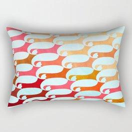 Blue Whale & Red Fox Rectangular Pillow