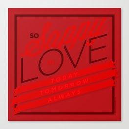 Sappy in Love Canvas Print
