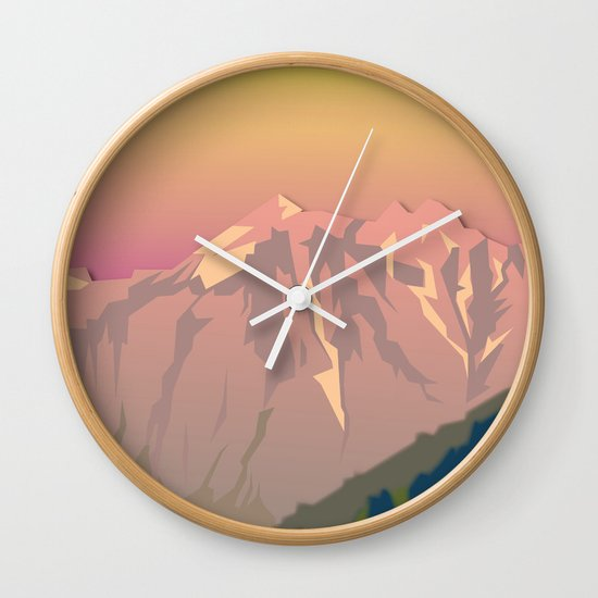 Night Mountains No. 47 Wall Clock