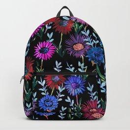 Gillian Floral Black Backpack