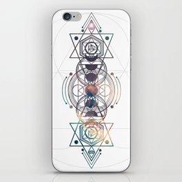 Light Moon Phase Nebula Totem iPhone Skin