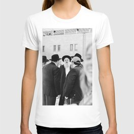 The Western Wall in the Old City, Jerusalem, Israel | Holy-place, religious jewish men talking | Fine art print photography  T-shirt