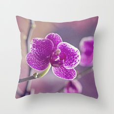 Pretty pink pieces Throw Pillow